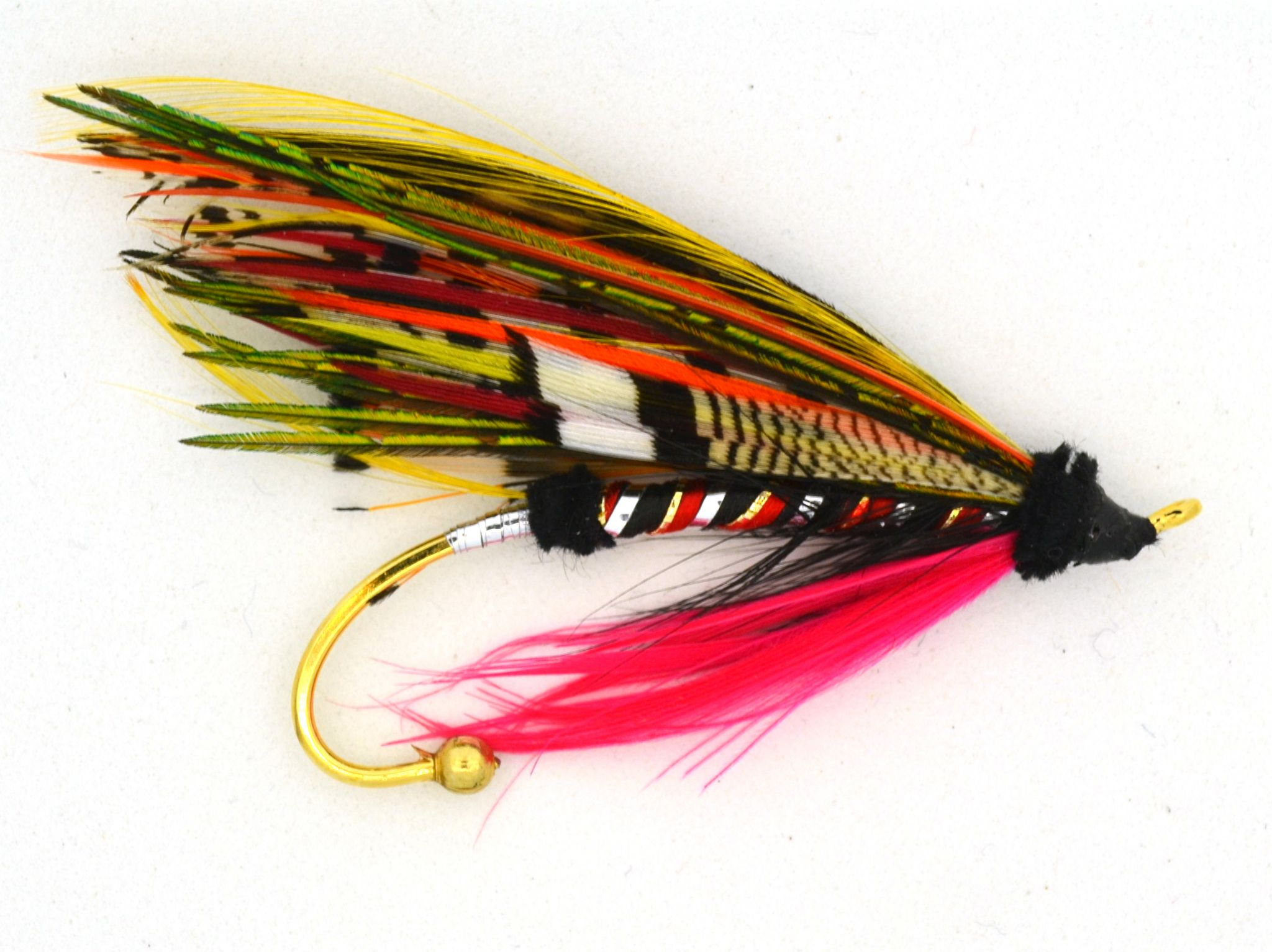 Classic Fully Dressed Salmon Fly Brooch The Black Dog